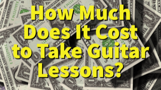How much does it cost to take guitar lessons?